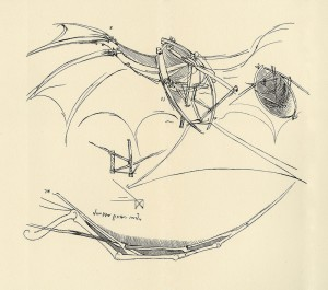 Leonardo da Vinci challenged convention with his thinking, as he demonstrated in his drawings of his flying machine. Similarly, we must be creative thinkers as we work to position our clients. (Courtesy Toronto Public Library)